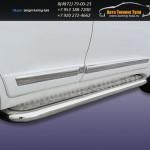 Пороги с листом d76 Toyota Land Cruiser 200 2012г