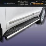 Защита штатного порога d57 Toyota Land Cruiser 200 2012г