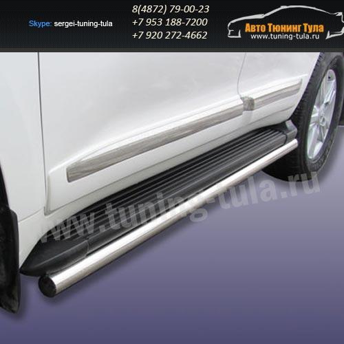 Защита штатного порога d57 Toyota Land Cruiser 200 2012г/291-31