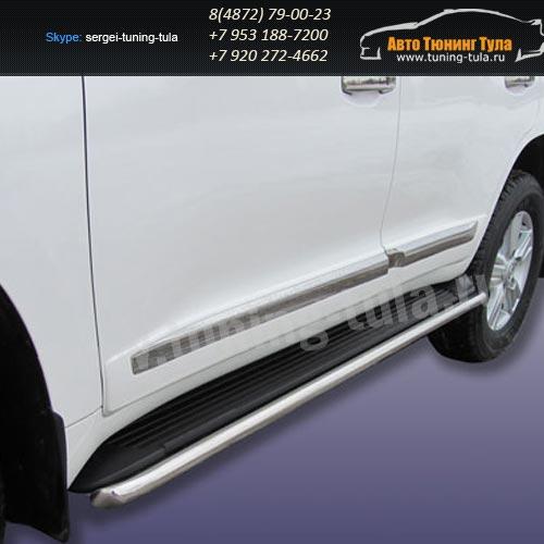 Защита штатного порога d42 Toyota Land Cruiser 200 2012г/291-32