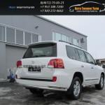 Защита задняя труба двойная d76+d42 Toyota Land Cruiser 200 2012г
