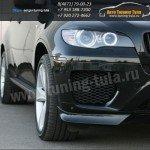 Накладки переднего бампера GT (клыки) БМВ X6 E71