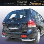 Защита задняя уголки d57 Hyundai Santa Fe Classic