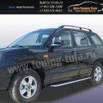 Пороги с листом d57 Hyundai Santa Fe Classic