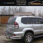 Защита задняя уголки d76+d42 Toyota Prado120/