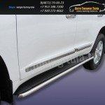 Защита штатного порога d42 Toyota Land Cruiser 200 2012г