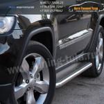 Подножки/Пороги листовые d53 Jeep Cherokee 2011+