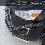 Защита бампера передняя двойная d60,3/42,4 мм Митсубиши ASX 2013+
