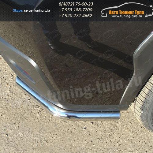 Защита заднего бампера уголки d42,4 мм Subaru XV 2012+/арт.673-3