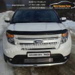 Защита бампера длинная овальная d75x42 мм  Ford EXPLORER 2012+