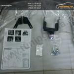 Защита заднего бампера d60.3 уголки Nissan X-trail Т31 2011+