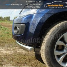 Защита бампера длинная овальная d75x42 мм Suzuki Grand Vitara 2012+/арт.672