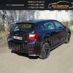 Защита заднего бампера уголки короткие d42,4 мм Subaru XV 2012+