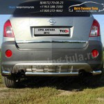 Защита заднего бампера d60.3 + уголки d60.3 OPEL Antara 2012+ /арт.662-2