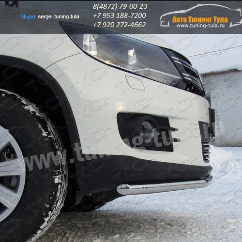 Защита бампера d42,4 VW TIGUAN Sport-Style (Trend-Fun) 2011+/арт.669-1