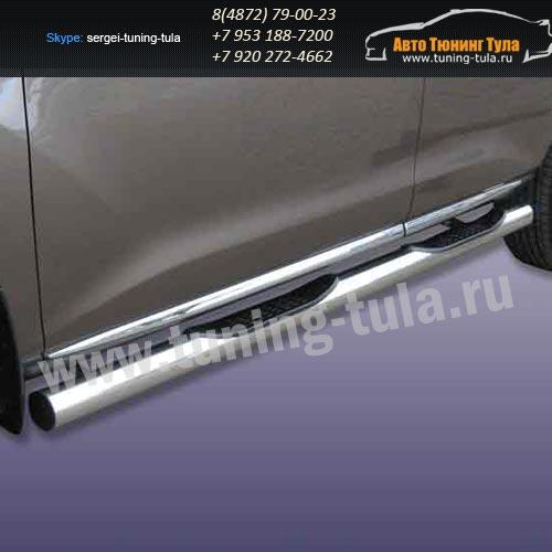 Пороги труба с накладками d76 Nissan Murano 2010+ /292-45