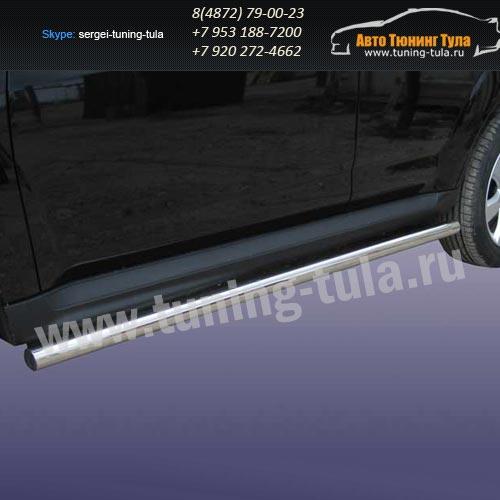 Пороги труба d76 Mitsubishi Outlander 2010 /292-9