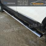 Пороги/подножки овал с накладками d120x60 Ford EXPLORER 2012+