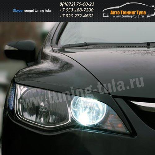 Накладки фар/ресницы/Хонда Цивик 8 /Civic Type R 2007-09г.в/арт.627-9