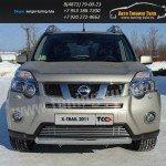 Накладки на решетку бампера d12 Nissan X-trail Т31 2011+