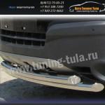 Защита передняя труба двойная d57+d57 Opel Antara 2007+