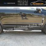 Пороги труба с накладками d76 Opel Antara 2007+