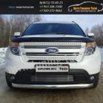 Защита бампера короткая овальная d75x42 мм  Ford EXPLORER 2012+