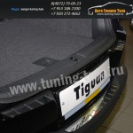 Накладка/Защита заднего бампера (нерж.) VW Tiguan/Тигуан