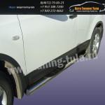Пороги труба с накладками d76 Nissan QASHQAI
