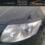 Накладки фар передние /ресницы/ Toyota Auris 2006+