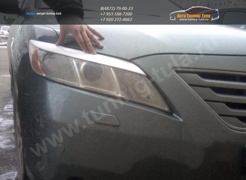 Накладки фар передние/ресницы/Toyota Camry V40 2006+/арт.627-24