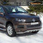 Защита передняя d 60,3/42,4 мм VW Touareg 2010+