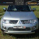 Накладки на решетку бампера d16 Mitsubishi Pajero Sport 2010+