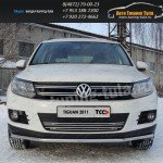 Накладки на решетку бампера d12 VW TIGUAN Sport & Style (Trend & Fun)