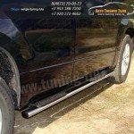 Подножки/Пороги овальные d75x42 мм Suzuki Grand Vitara 2012+