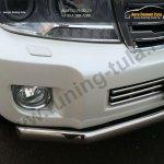 Защита бампера передняя d75x42 овал TOYOTA LC 200 2012+/арт.650