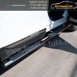 Пороги/Подножки d75x42 овал с накладками Тойота Хайлендер 2010+
