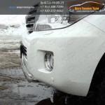 Защита передняя короткая d75x42 овал Toyota LC 200 2012+
