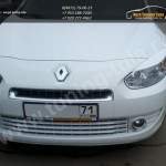 Накладки фар передние /ресницы/ Renault FLUENCE 2009+