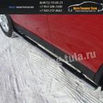 Пороги овальные d75x42 с накладкой TOYOTA RAV 4 New 2013+