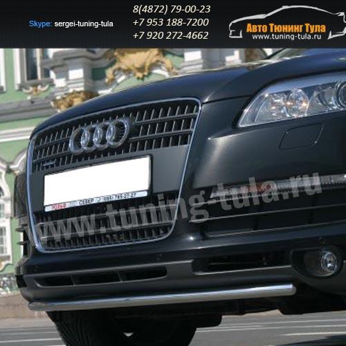 Защита передняя труба d42  Audi Q7 2006-09г  /294-30