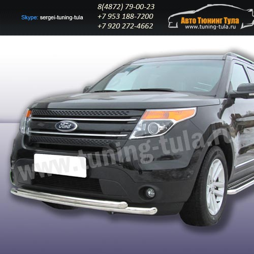 Защита передняя двойная d57+d57  Ford Explorer 2012+   /294-55