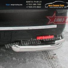 Защита задняя двойная уголки  d76+d60  Cadillac Escalade 2006+  /294-45