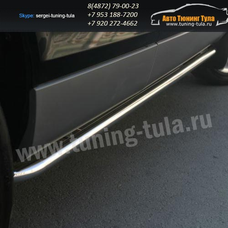 Пороги труба d42  Audi Q7 2006-09г  /294-34