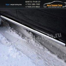 Пороги труба d60 Mitsubishi Pajero Sport 2008+  /294-91