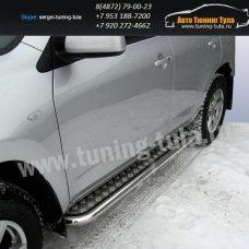Пороги с листом d57 Toyota RAV-4 2005+  /294-13
