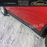 Защита порога.Пороги труба d60.3мм TOYOTA RAV 4 New 2013+