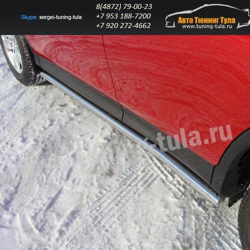 Защита порога.Пороги труба d60.3мм TOYOTA RAV 4 New 2013+ /арт.678