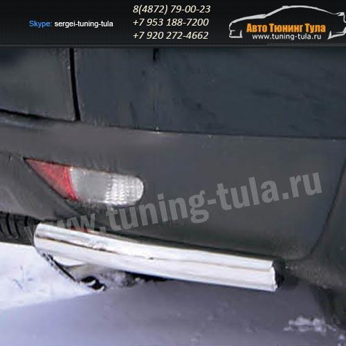 Защита задняя уголки d60 Mitsubishi Pajero Sport 2008+  /295-2