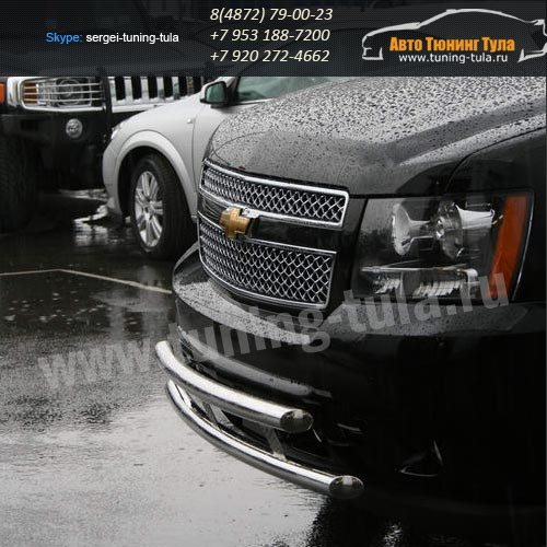 Защита передняя двойная  d60+d60 Chevrolet Tahoe 2008+  /294-80